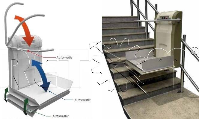 Plataforma salvaescaleras para silla de ruedas ciudad real for Plataforma para silla de ruedas